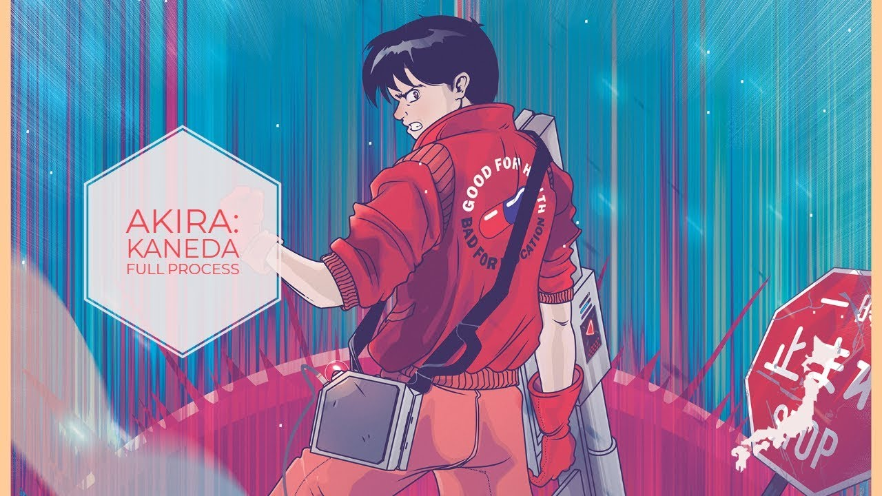 Artstation Akira Kaneda Anime Manga Poster Sean Lenahan