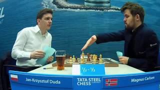 Jan-Krzysztof Duda (2758) vs Magnus Carlsen (2872)    Tata Steel Chess 2020 - R11