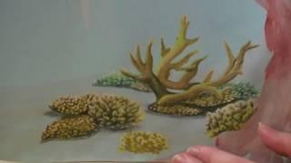 Art tutorial  - Coral reef Speed drawing