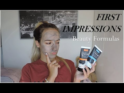 ♡ TESTING BEAUTY FORMULAS SCRUB AND MASK (£1 Activated Charcoal Range!!) // First Impressions ♡