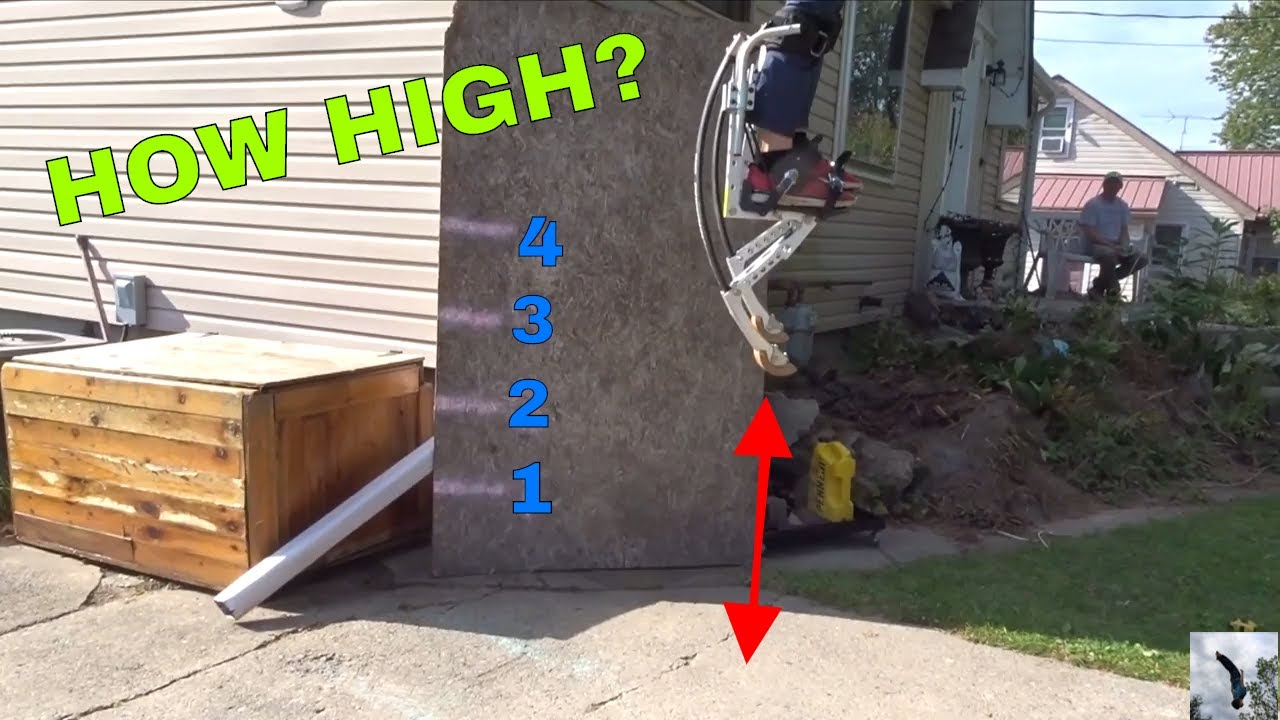 4224bedd2ffb HOW HIGH CAN YOU JUMP IN KANGAROO SHOES - YouTube