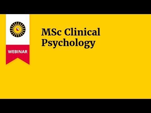 Webinar MSc Clinical Psychology