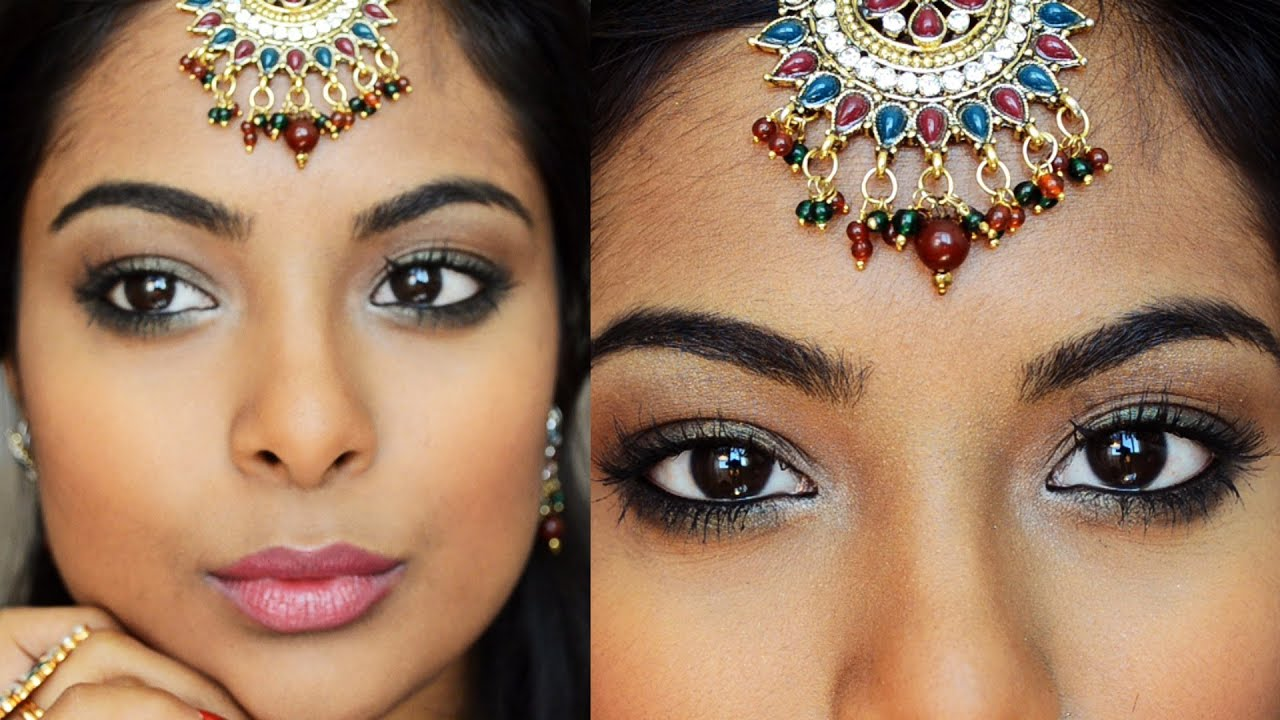 Navratri Special Indian Party Makeup  Collab With U0026quot;Shrutiarjunanandu0026quot; / Full Face Bollywood ...