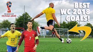RECREATING WORLD CUP 2018 GOALS! Ronaldo, Coutinho & more!