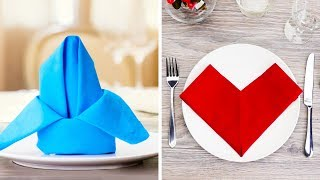 15 EASY AND BEAUTIFUL NAPKIN FOLD IDEAS TO DECORATE YOUR DINING TABLE thumbnail