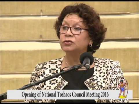 Opening of National Toshaos Council Meeting