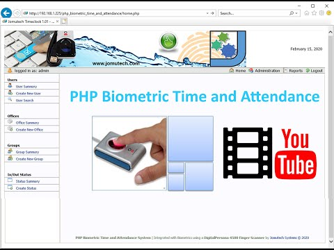 Web based PHP Biometric Access Control System that works with a DigitalPersona Fingerprint Scanner