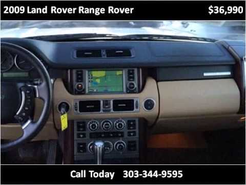2009 Land Rover Range Rover Used Cars Aurora CO