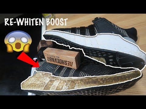 HOW TO CLEAN ADDIAS BOOST! CRAZY RESTORATION RESULTS USING A SHARPIE !
