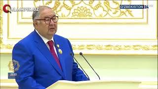 """Alisher Usmonov Mirziyoyevga:  """"Butun o'zbek xalqining umidi sizning qo'lingizga topshirilgan"""""""