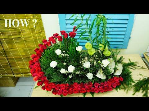cắm hoa hồng 50 bông tại kienthuccuatoi.com