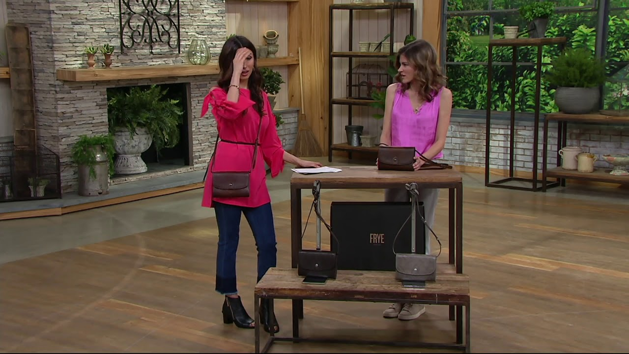 Samantha Brown Luggage Qvc: Frye Leather Melissa Wallet Crossbody Bag On QVC