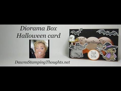 Diorama Box Halloween card