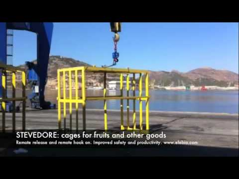 elebia automatic hook on stevedore cages