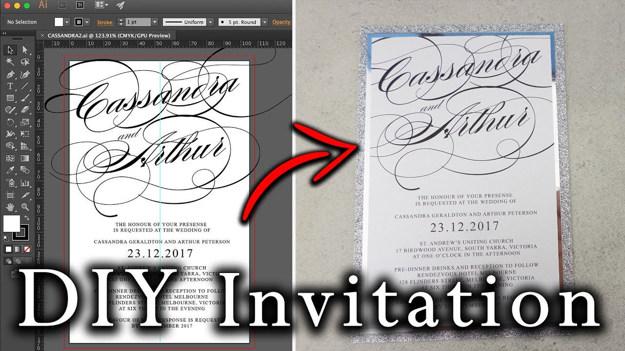 How to create an Invitation in Illustrator from start to finish ...