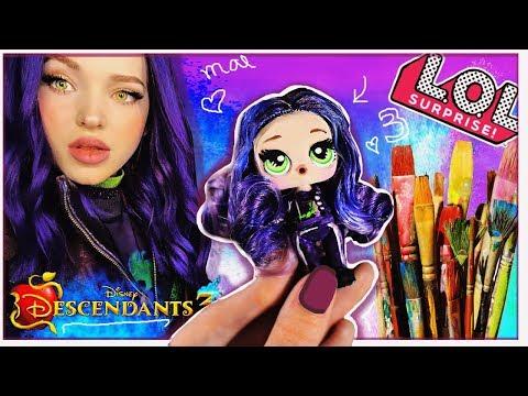 MAL DESCENDANTS 3 🔥 Custom LOL Surprise Doll HAIR GOALS - DIY