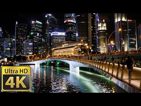 Singapore Fireworks to the year of the dog  / Amazing 4k video ultra hd