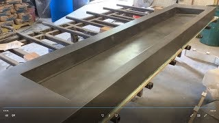 Casting a Large GFRC Sink - Glass Fiber Reinforced Concrete