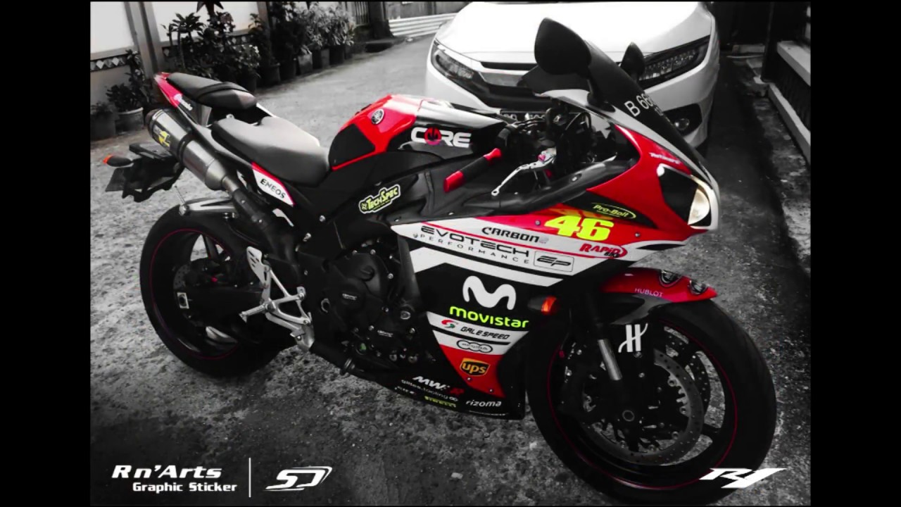 yamaha yzf r1 racing decal art by simon designs r n 39 arts graphic sticker owner ko william. Black Bedroom Furniture Sets. Home Design Ideas
