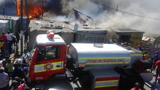 Many people and families left homeless in Cape town Dunoon by fire