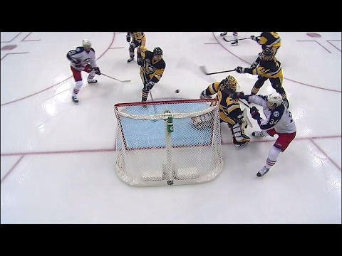 Maatta bats puck out of air to bail out a busy Marc-Andre Fleury