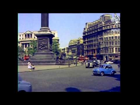 1958 - Driving Around London (color Remaster/added Sound)