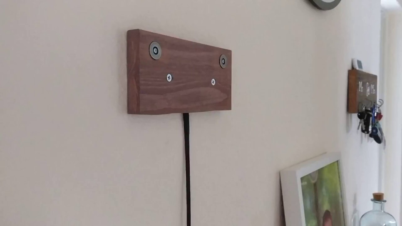 Diy Tablet Wall Mount With Charging Over Magnets Youtube
