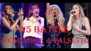 Famous Singers - A5 Head Voice & Falsetto Battle!