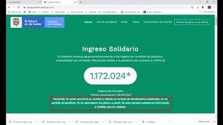 INGRESO SOLIDARIO - REACTIVACION PLATAFORMA PARA CONSULTAS