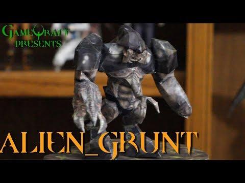 ALIEN GRUNT   HALF-LIFE FIGURE! GAMEQRAFT PAPERCRAFT - BRING GAMES TO LIFE