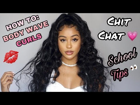 HOW TO GET VOLUMINOUS CURLS & BACK TO SCHOOL TIPS!: Chit Chat GRWM #NADULAHAIR