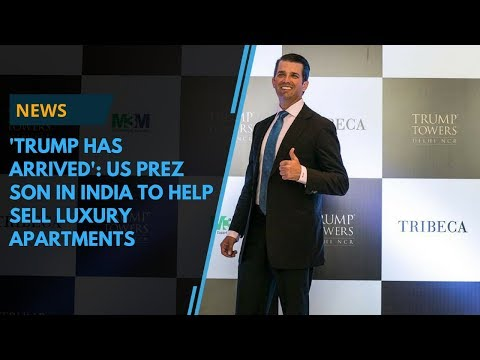 USPresidentTrump's son in India to help sell luxury apartments