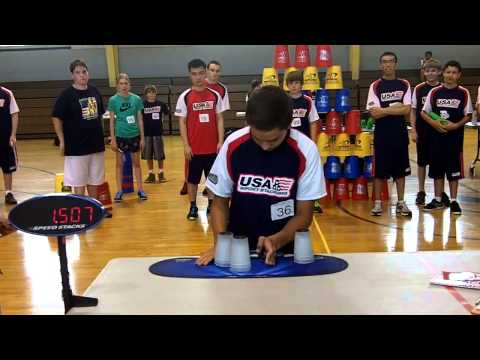 Chandler Miller 1.482! New Sport Stacking 3-3-3 World Record!!!!
