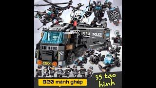 Bộ Đồ Chơi Xếp Hình Lắp Ráp Lego - Cảnh Sát Đặc Chủng 820 Mảnh Ghép 8in1 Trẻ Em