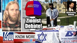 """Know More News"" Green vs. Zionist Organization Of America's Antar Davidson debate"