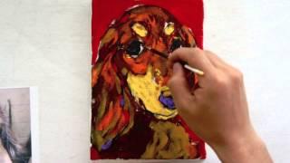 画家 長友心平 井の頭公園にて似顔絵を描き始め、愛犬の似顔絵で全国各...