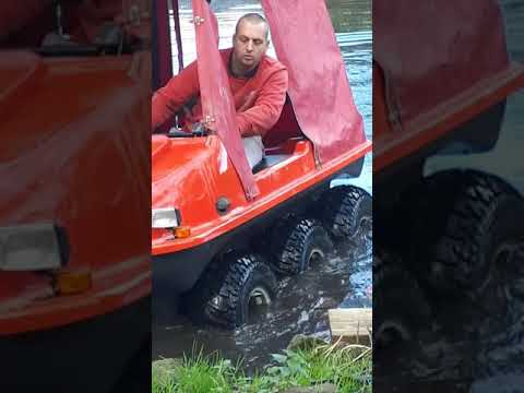Test Time For The Spyder 6x6 Amphibious/argoCat In The Canal