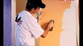 Нанесение венецианской штукатурки МАРБЕЛЛА. Видео