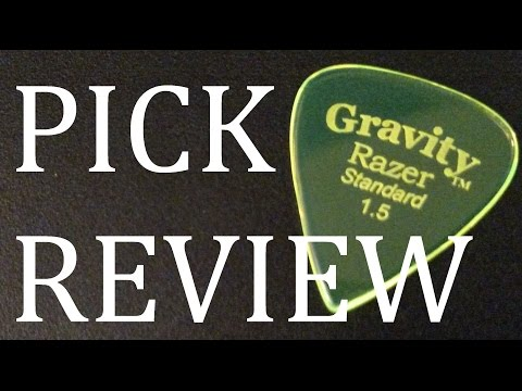 Gravity Razer Standard 1.5mm Guitar Pick Review & Demo