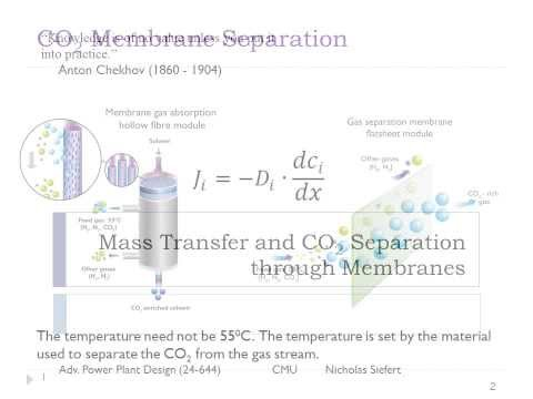 Lecture#6: Intro to CO2 Separation Membranes