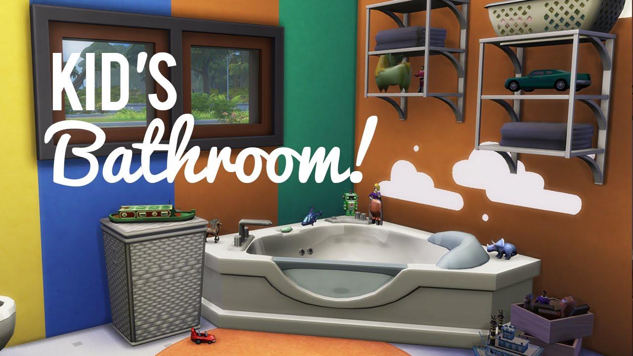The Sims 4 Room Build Kids Bathroom