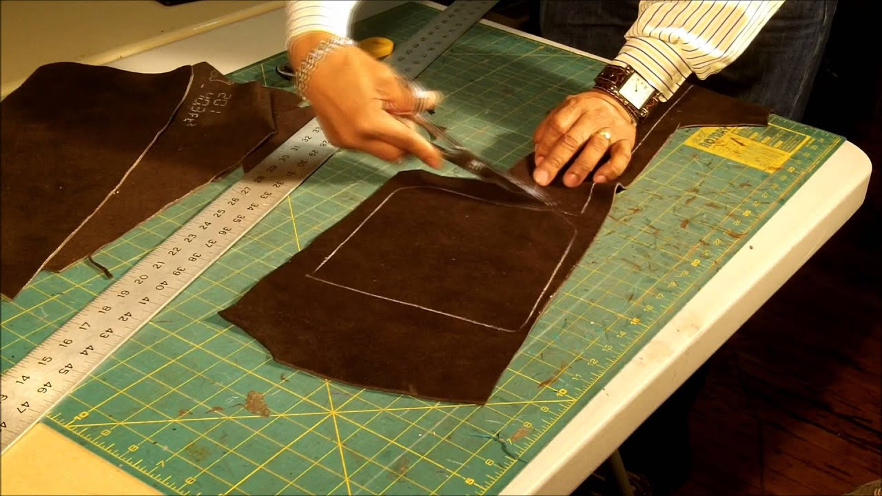 How To Make A Leather Messenger Bag Part 2 Of 7