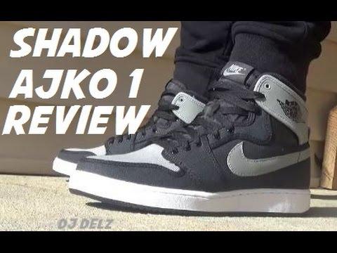 buy online 8084b 41c19 Air Jordan Shadow 1 AJKO OG Sneakers On Foot Detailed Review