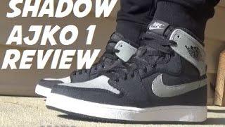 air jordan shadow 1 ajko og sneakers on foot detailed review
