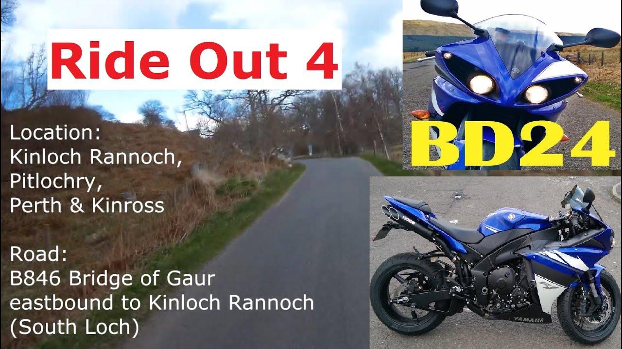 Ride Out 4 on a Yamaha R1 - Bridge of Gaur to Kinloch Rannoch