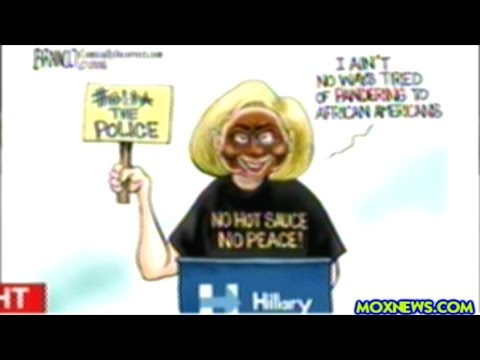 """Trump Supporter Tweets Cartoon Of Hillary Clinton In Blackface!"""