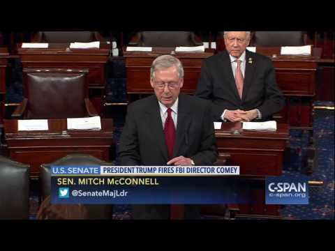 Senator Mitch McConnell on firing of FBI Director James Comey (C-SPAN)