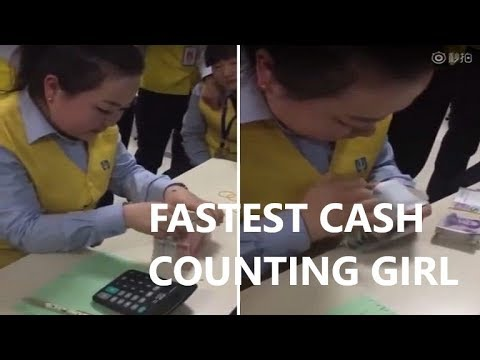 Fastest Money Counter Girl in China