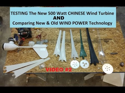 Nice 500 Watt Chinese Wind Turbine, how to Test & Wind Turbine Lessons 2