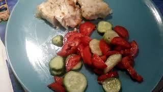 Мои рецепты:Рыба+овощной салат